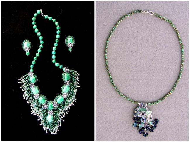 Rhondaguy custom jewelry bead embroidery technique