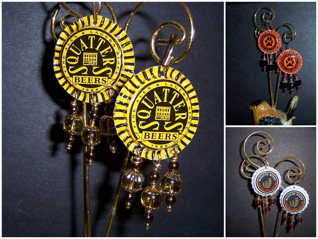 Beer Cap Earrings - 01Aa