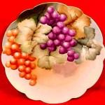 Plate - Grapes 01B