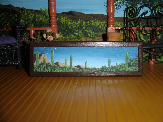 Desert Painting by Evelyn Allen