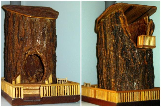Tree Trunk Fairy House - 01AA