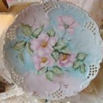 Plate - China Painted Roses 01A