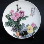 Plate - Chinese Peonies 01A