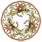 Plate - Christmas Wreath - 01A