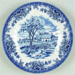Plate - Churchill Brook - Blue 01A